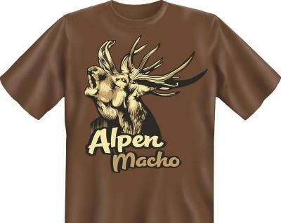Jäger Geburtstag T-Shirt Alpen Macho Hirsch Jagd Shirt Geschenk geil bedruckt