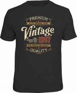 lustiges Geburtstag T-Shirt - 100% Premium Vintage seit 1957 Fun Shirt Geschenk