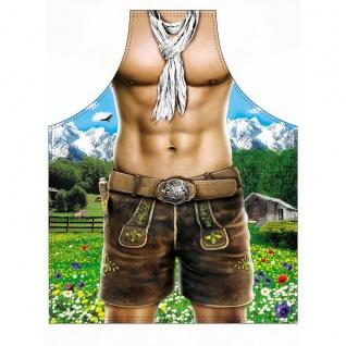 Lustige Grillschürze Bayern-Model Mann Partyschürze Männer-Kochschürze Geschenk