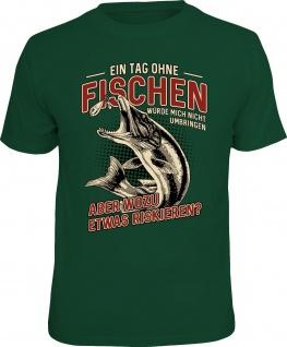 lustiges Angler T-Shirt - Ein Tag ohne Fischen - Angel Shirt Geburtstag Geschenk