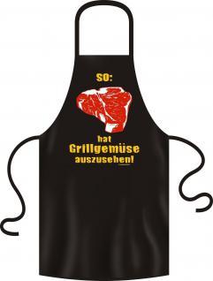 Grillschürze - Grillgemüse Steak Grill Schürze Bistro Kochschürze geil bedruckt