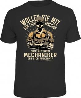 Herren T-Shirt bedruckt - Chef oder Mechaniker - lustige Geschenke für Männer