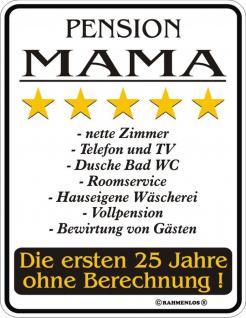 Humor Kühlschrankmagnet Pension Mama Kühlschrank Magnet Fun Schild Metall
