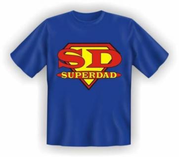 lustig bedruckte Geburtstag Fun-Shirts T-Shirt - Super Dad - Vatertag Geschenk