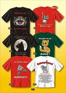 Fun Collection T-Shirt Motiv Katze Geschenk Auswahl Katzen-Shirt lustig bedruckt