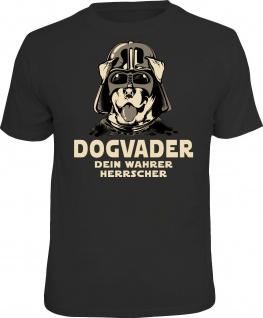 Herren T-Shirt bedruckt - Dogvader - lustige Geschenke für Männer Funshirts