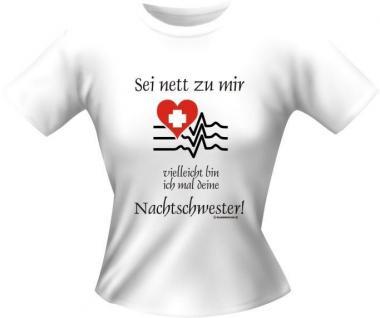 frech bedruckte Girlie Lady T-Shirts Shirt - Deine Nachtschwester - Geschenk
