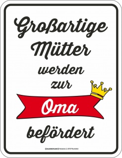Geburtstag Blechschild Großartige Mutter zur Oma Fun Schild Alu geprägt bedruckt