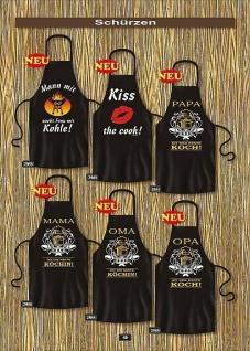 Grill Geschenk - Grillschürzen Männer lustig bedruckt Partyschürzen Kochschürzen