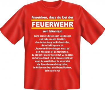 Fun Collection T-Shirt Feuerwehr Firefighter FFW Shirt Geschenk Auswahl bedruckt - Vorschau 4