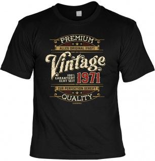 Geburtstag T-Shirt - 50 Jahre 100% Premium Vintage seit 1971 - T Shirt Geschenk