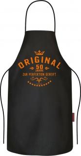 Grillschürze - 50 Jahre zur Perfektion - Kochschürzen Männer lustig bedruckt