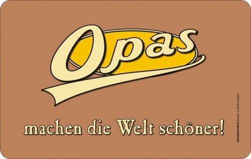 Frühstücksbrettchen - Opas machen die Welt schöner Brettchen geil bedruckt Brett