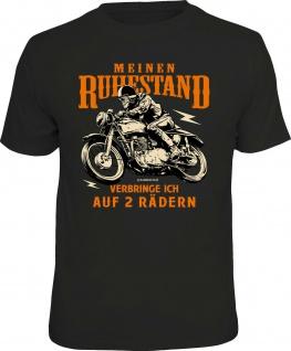 Herren T-Shirt - Ruhestand auf 2 Rädern - lustige Geschenke Männer Biker-Shirts