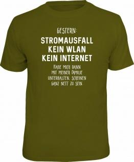Fun T-Shirt Stromausfall mit ganz netter Familie Shirt Geschenk geil bedruckt