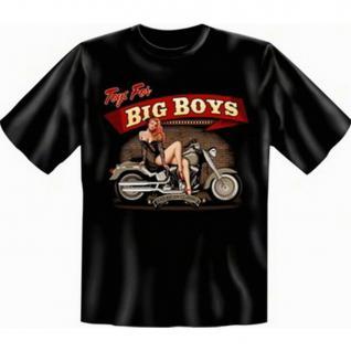 geil bedruckte Biker T-Shirts Shirts - Toys for Big Boys - Geburtstag Geschenk