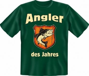 T-Shirt - Angler des Jahres - Angel Fun Shirts Geburtstag Geschenk geil bedruckt