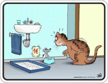 Blechschild Katzen Toilette Geschenk Katze Schild Alu geprägt bedruckt rostfrei