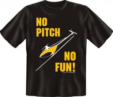 T-Shirt No Pitch No Fun Modellbau Hobby Shirt Geburtstag Geschenk geil bedruckt
