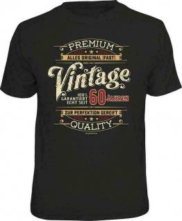 Geburtstag T-Shirt - 100% Premium Vintage seit 60 Jahren Fun Shirt Geschenk