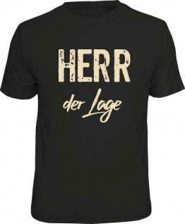 Herren T-Shirt bedruckt - Herr der Lage - lustige Geschenke für Männer FunShirts