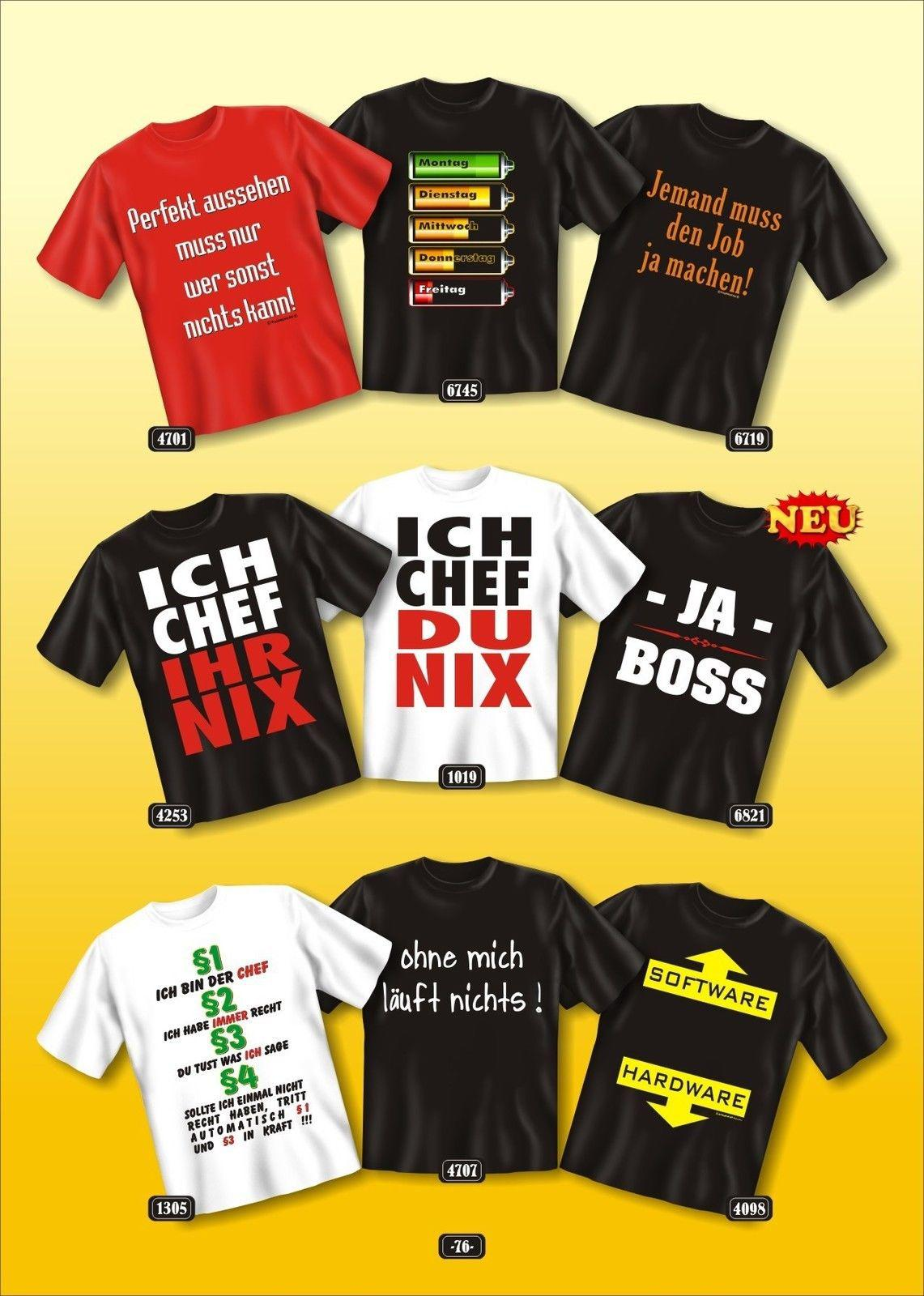 brand new 51904 07003 Fun Collection T-Shirt Beruf Büro Job Geschenk Auswahl Arbeits-Shirts  bedruckt