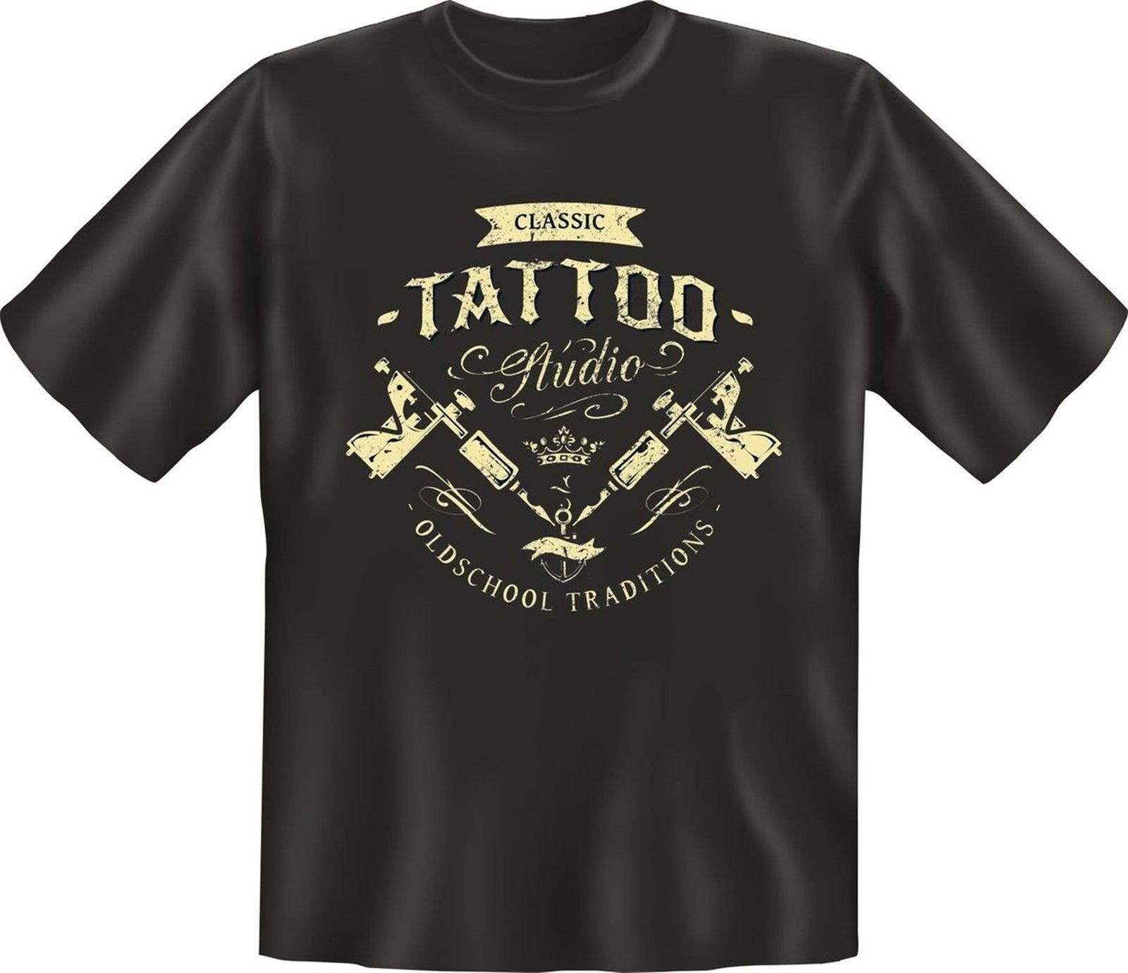 Retro T Shirt Classic Tattoo Studio Geburtstag Geschenk Shirt Geil