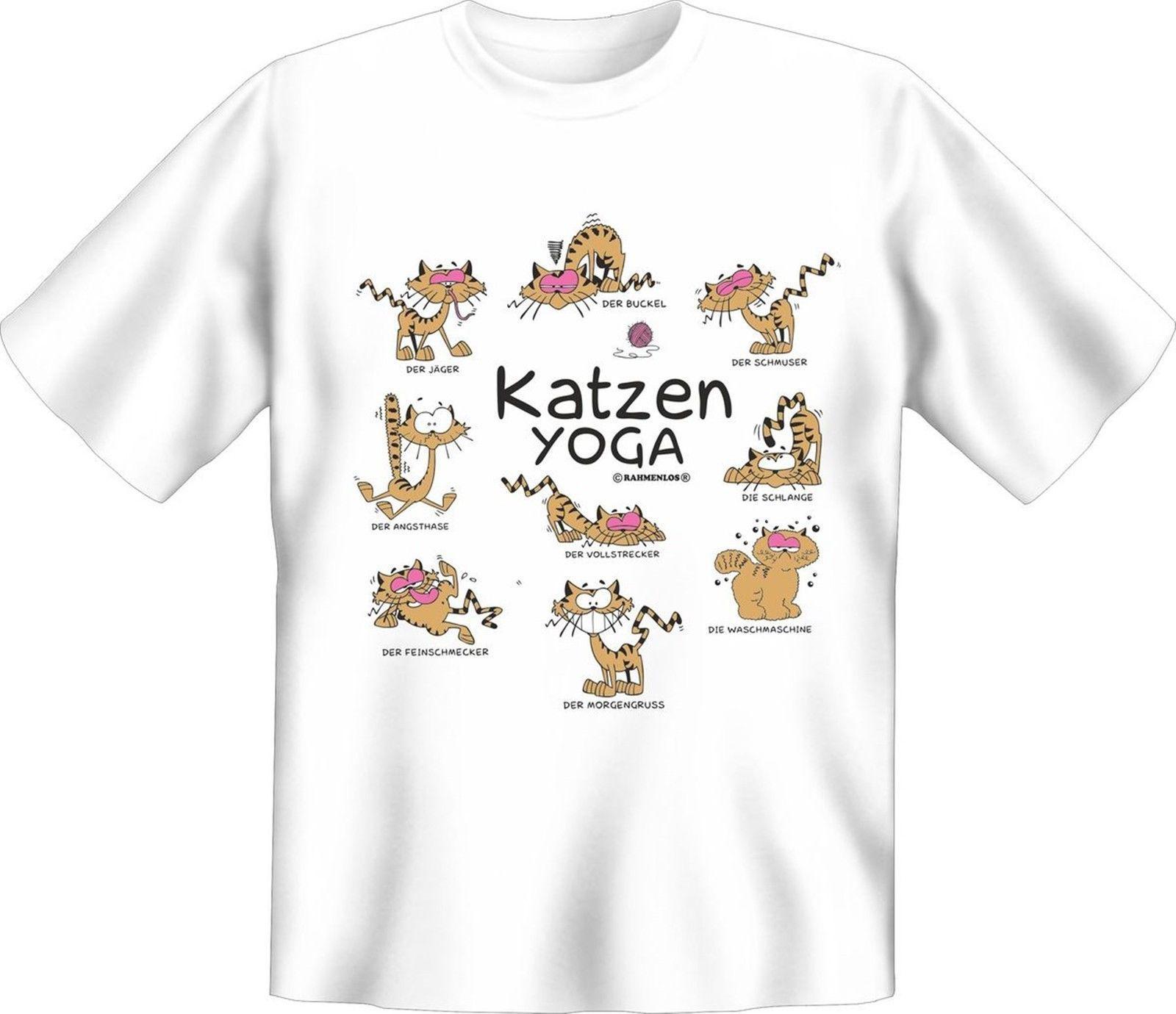 Fun T Shirt Katzen Yoga Shirt Geburtstag Geschenk Geil Bedruckt