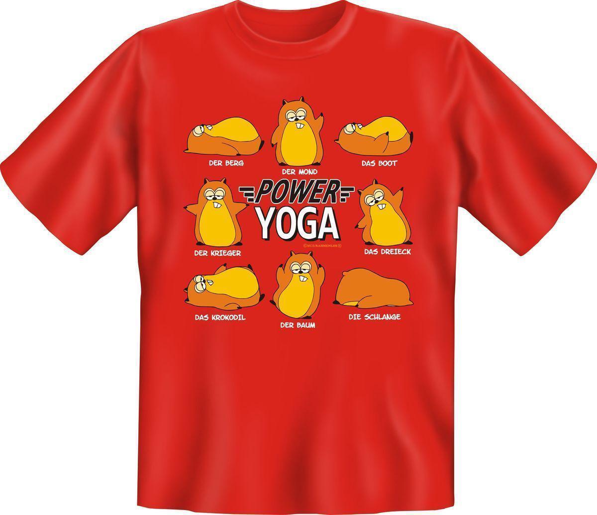 Sport T Shirt Power Yoga Fitness Fun Shirt Geburtstag Geschenk