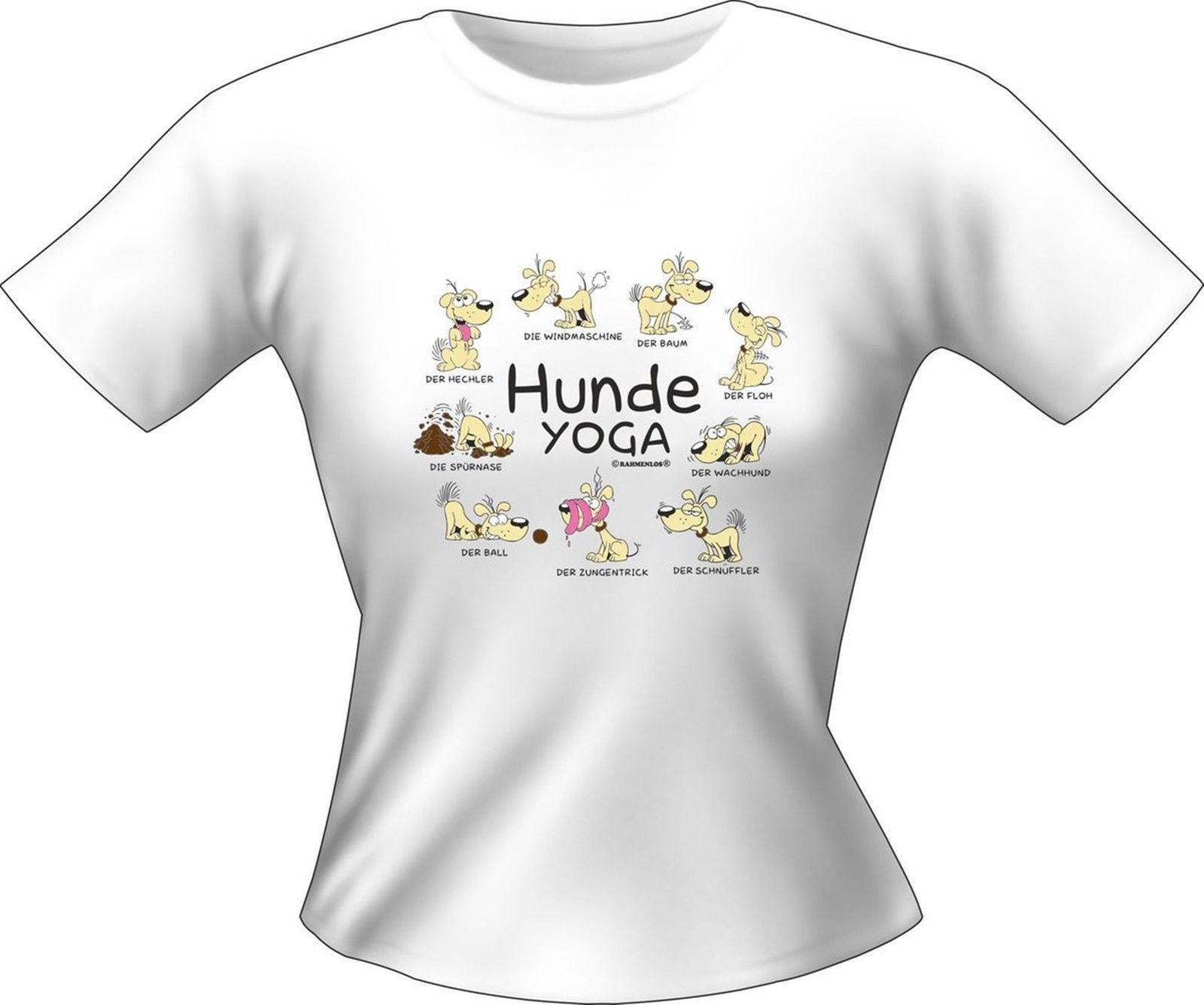 Girlie Shirt Hunde Yoga Lady Shirt Geburtstag Geschenk T Shirt Geil