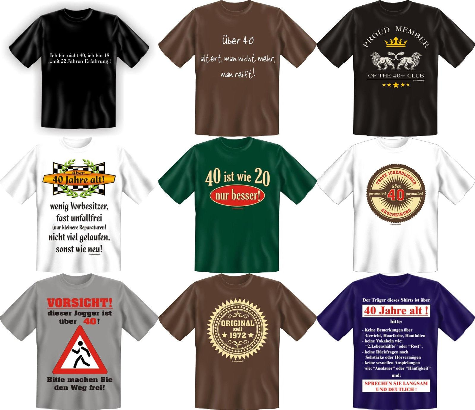 fun collection t shirt 40 jahre vierzig shirt 40ter. Black Bedroom Furniture Sets. Home Design Ideas