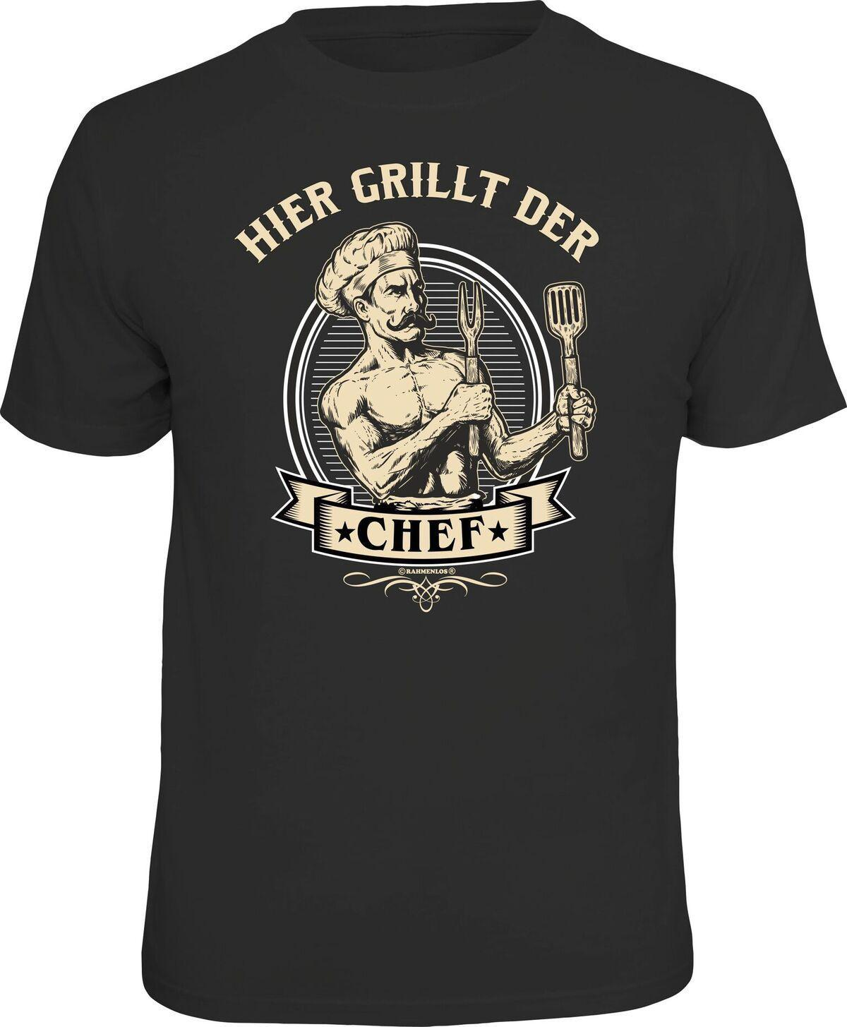 Grill T Shirt Hier Grillt Der Chef Shirt Bedruckt Geburtstag