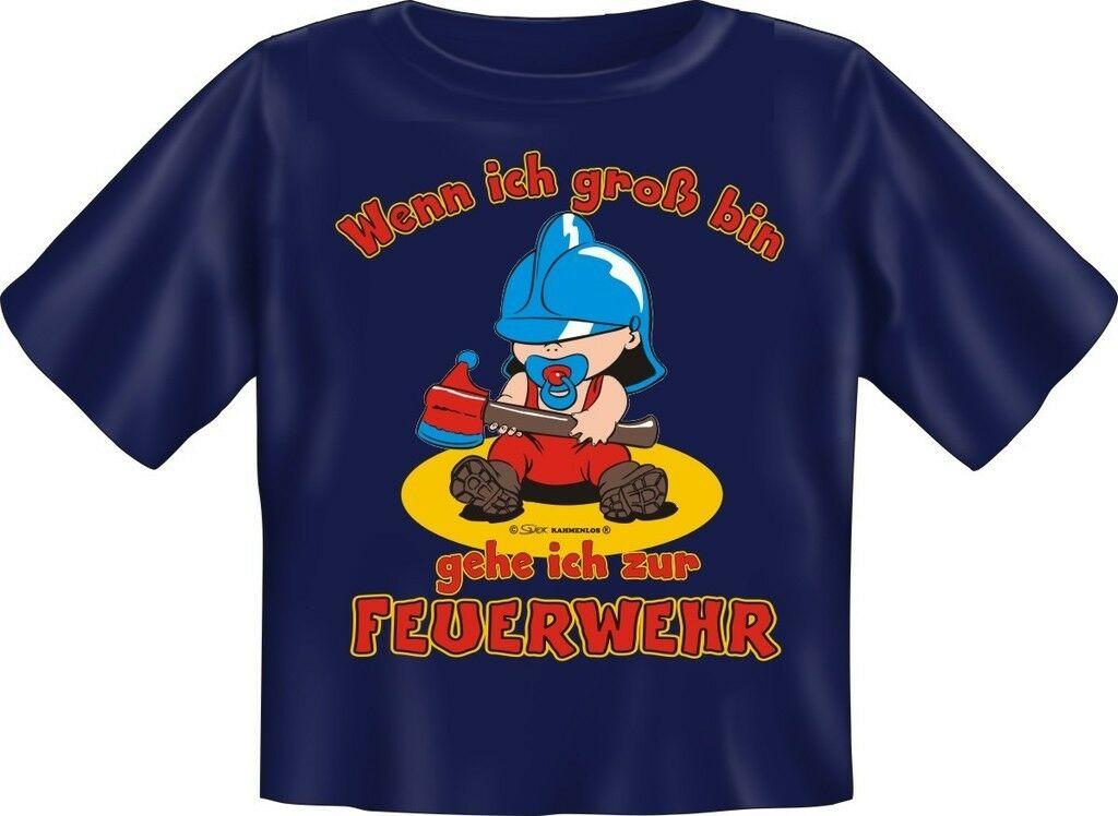 Baby Fun T-Shirt Babyshirt niedlich bedruckt Ich gehe zur Feuerwehr Geschenk