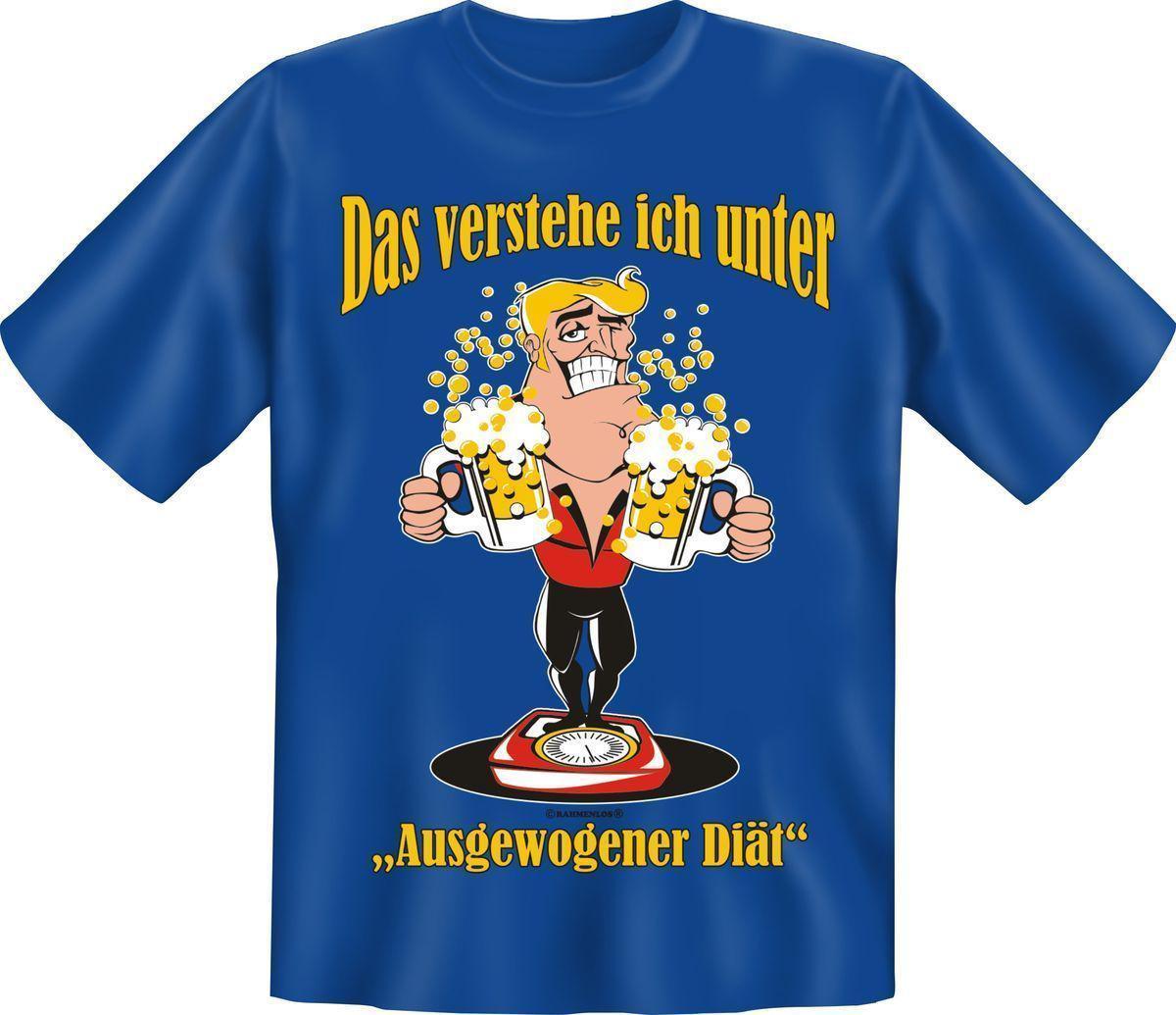 T Shirt Ausgewogene Diat Bier Fun Shirts Geburtstag Geschenk