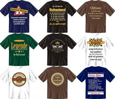 Fun Collection T-Shirt Ruhestand Rente Alter Shirts Geburtstag Geschenk bedruckt