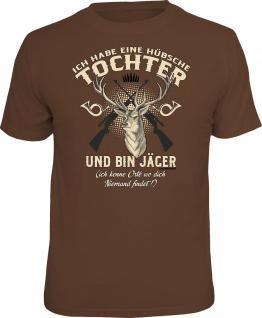 Vatertag T-Shirt Jäger und hübsche Tochter Shirt Geburtstag Geschenk bedruckt
