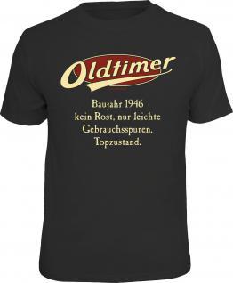 Geburtstag T-Shirt Oldtimer Baujahr 1946 Fun Shirt Geschenk geil bedruckt