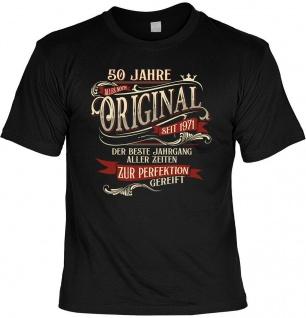 lustiges Geburtstag T-Shirt - 50 Jahre Original seit 1971 Herren Shirt Geschenk