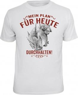 Herren T-Shirt - Mein Plan - durchhalten - lustige Geschenke Männer Fun-Shirts