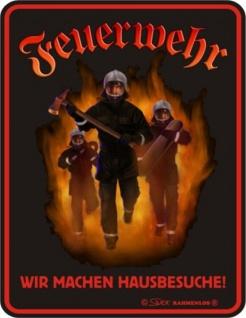Fun Collection Blechschild Feuerwehr FFW 112 Schild Geschenk Auswahl bedruckt - Vorschau 3