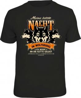 Herren T-Shirt - Meine letzte Nacht im Wolfsrudel - Junggesellenabschied Shirts