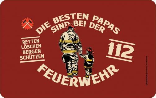 Frühstücksbrettchen - Die besten Papas bei der Feuerwehr - Geburtstagsgeschenk