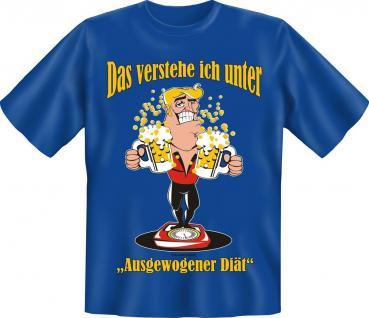 T-Shirt - Ausgewogene Diät Bier - Fun Shirts Geburtstag Geschenk geil bedruckt