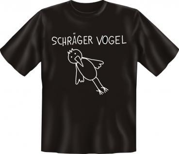 T-Shirt - Schräger Vogel - Geburtstag Fun Shirt Geschenk geil bedruckt - Vorschau