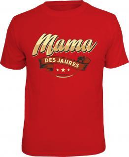 Geburtstag T-Shirt Mama des Jahres Muttertag Frauentag Shirt Geschenk bedruckt