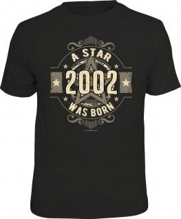 lustige Geburtstag T-Shirt - 18 Jahre - A Star was born 2002 - FunShirt Geschenk