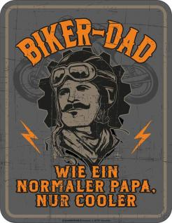 Humor Kühlschrankmagnet Cooler Biker Dad Kühlschrank Magnet Fun Schild Metall