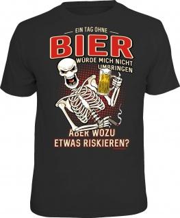 Herren T-Shirt bedruckt - Ein Tag ohne Bier - lustige Geschenke für Männer Shirt