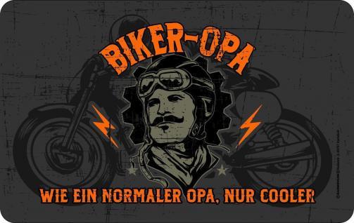 Frühstücksbrett - Cooler Biker Opa - Schneide Brettchen Geburtstag Geschenk