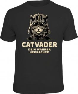 lustiges Katzen T-Shirt - Catvader - Geburtstag Geschenk Shirts bedruckt
